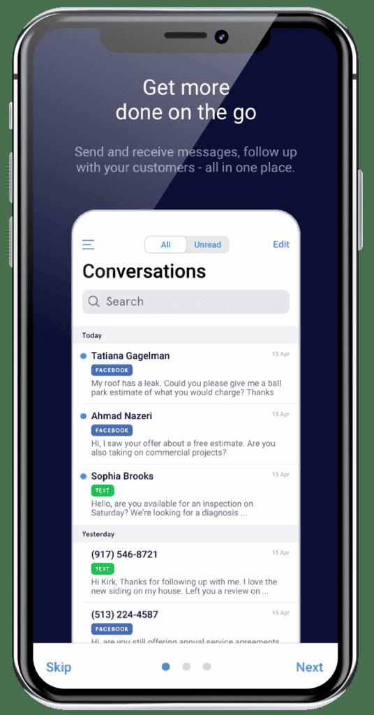 Signpost Conversation Mobile Screen